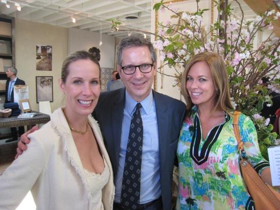 Design Camp Girls Lori Dennis and Kelli Ellis with Elle Decor Editor in Chief Michael Boodro