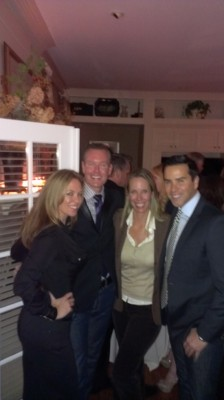Kelli Ellis, Barry Dixon, Lori Dennis and Hot Anchor Man at Elle Decor Party High Point