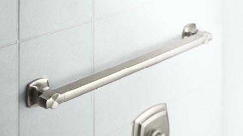 Kohler Grab Bar, Kohler, Grab Bar, Universal Design, Universal Bathroom, Modern Bathroom Hardware, Transitional Bathroom Hardware, Contemporary Grab Bar, Luxury Grab Bar