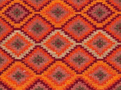 Jaipur tribal pattern flatweave kilim rug