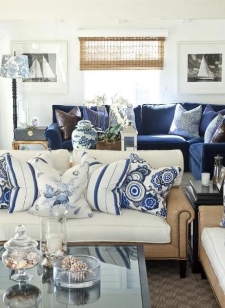 Coastal Nautical Decor Ideas Stripes White Blue Colors 12 Lori Dennis