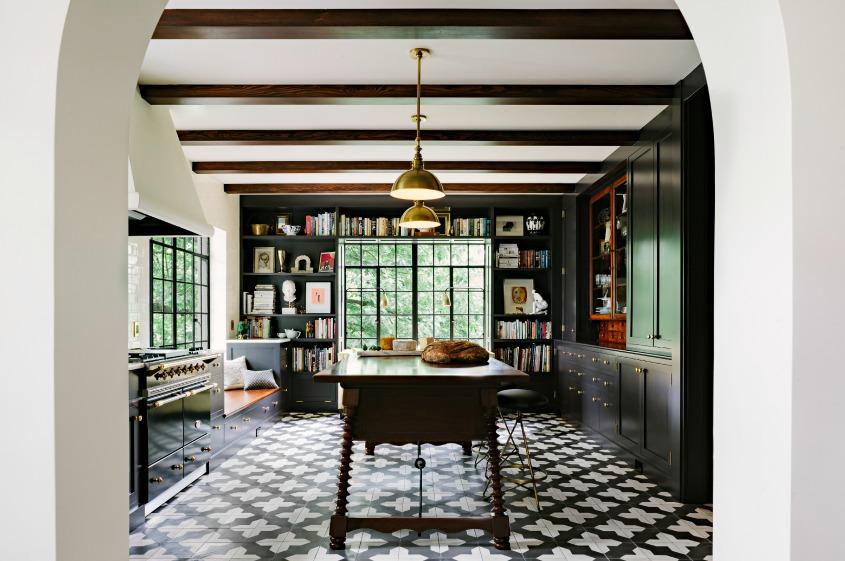 Badajoz Cement Tile Jolts A Kitchen From Granada Tile 1