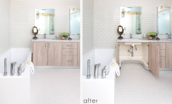 Lori Dennis Interior Design Aging in Place Bathroom After