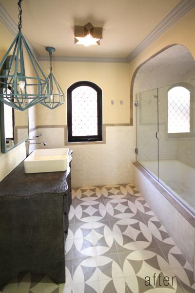 Lori Dennis Interior Design Modern Moroccan Bathroom after