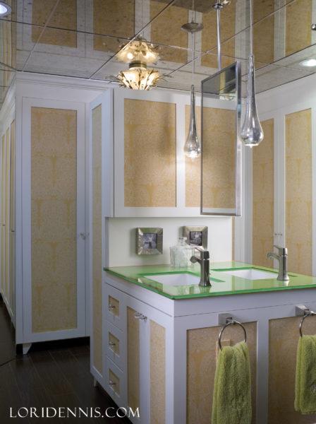 lori-dennis-green-bathroom-pantone-color-year-greenery