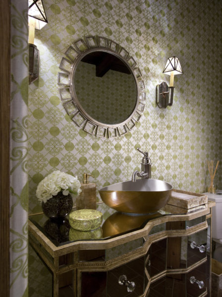 lori-dennis-powder-room-pantone-color-year-2017-greenery