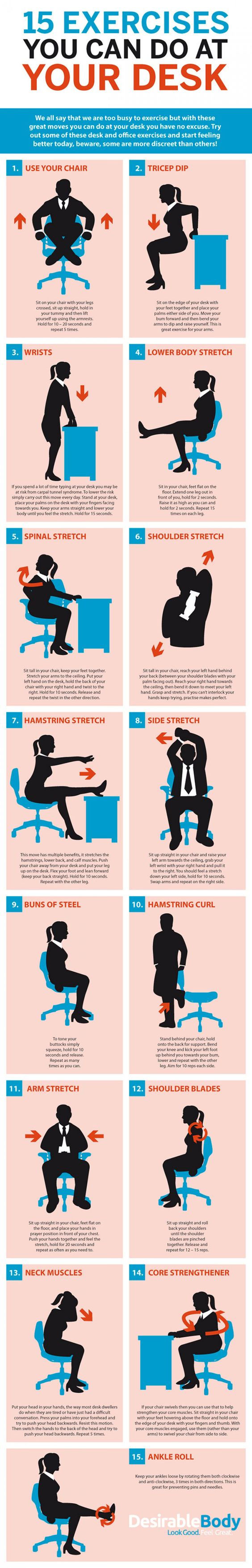 office exercises how to infographic