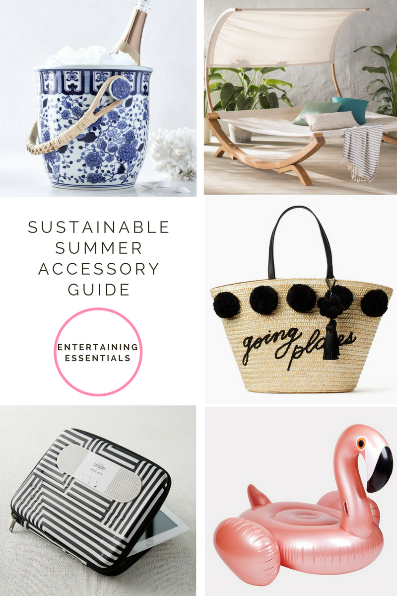 The Ultimate Summer Accessory Round-Up Your guide to a chic and sustainable Summer This Summer, we want you to look and feel fabulous. So you'll need all the right accessories. We put together this guide to help inspire some ways to accessorize and look and feel your best. Whether you're entertaining friends or lounging solo, you'll want to bask in the Summer sun in style. These are the ultimate beach and poolside accessories our staff at Lori Dennis Inc. will be sporting all summer long