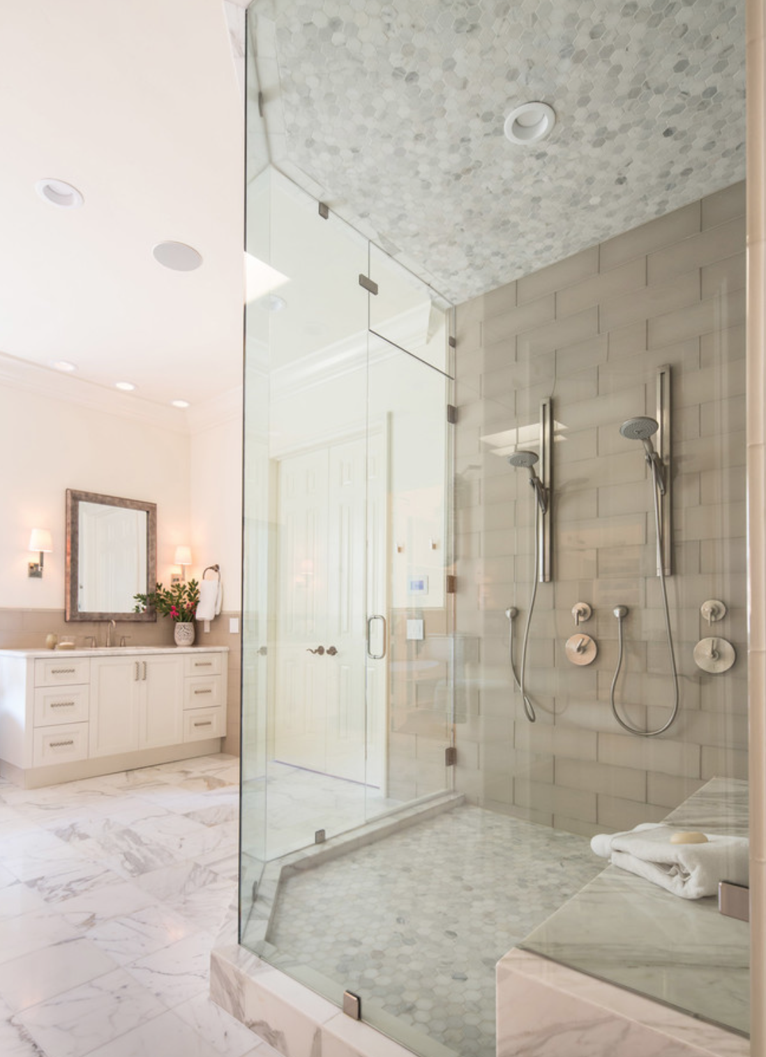 Lori Dennis Bathroom Shower Tile Luxe Design | LORI DENNIS