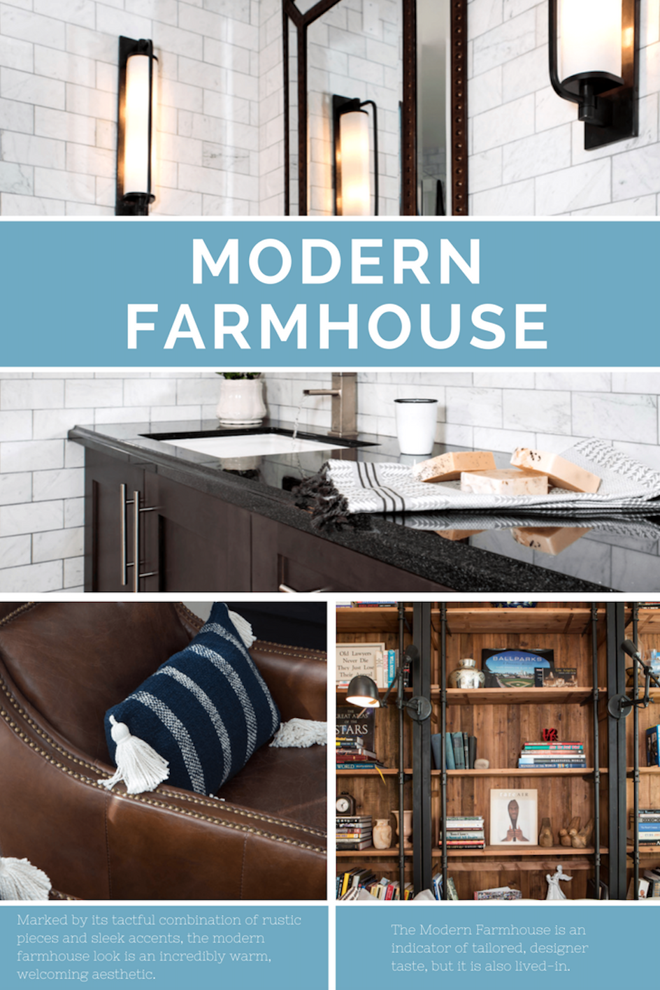 Marked By Its Tactful Combination Of Rustic Pieces And Sleek Accents, The  Modern Farmhouse Look