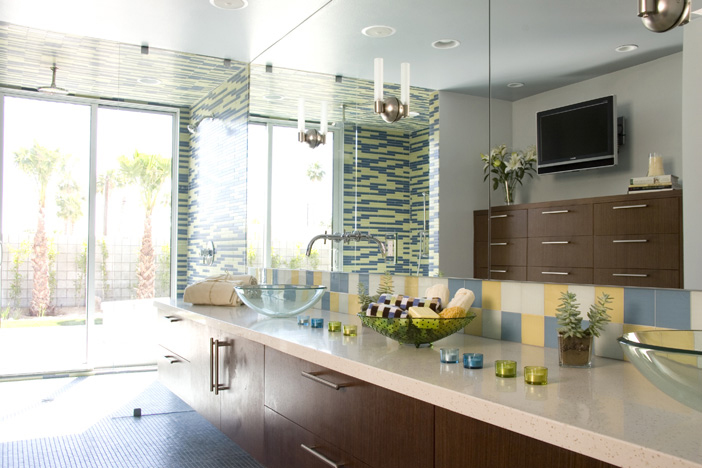 green interior design - bathrooms cleaned without chemicals