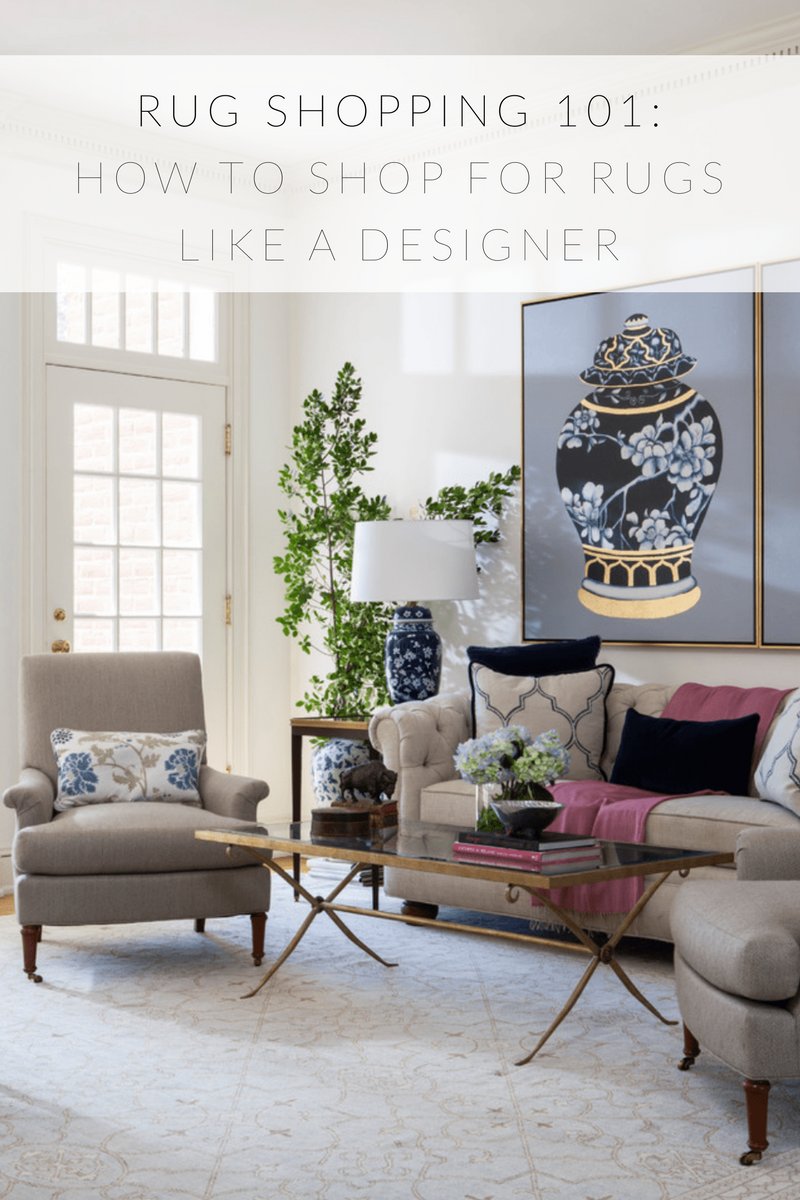 Rug Shopping 101 How to shop for rugs like a designer infographic