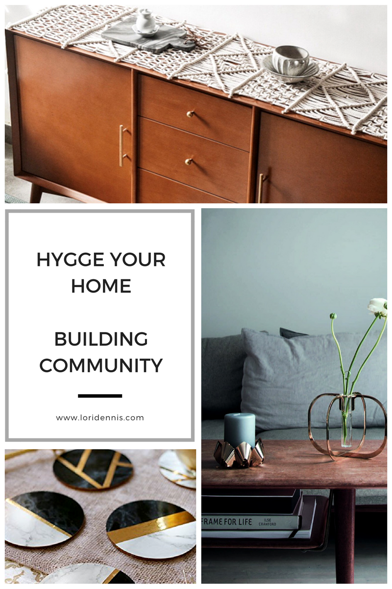The third, but perhaps the most important aspect of a hygge space is its emphasis on community. Achieve this through the layout of the space, and accessories that encourage conversation.