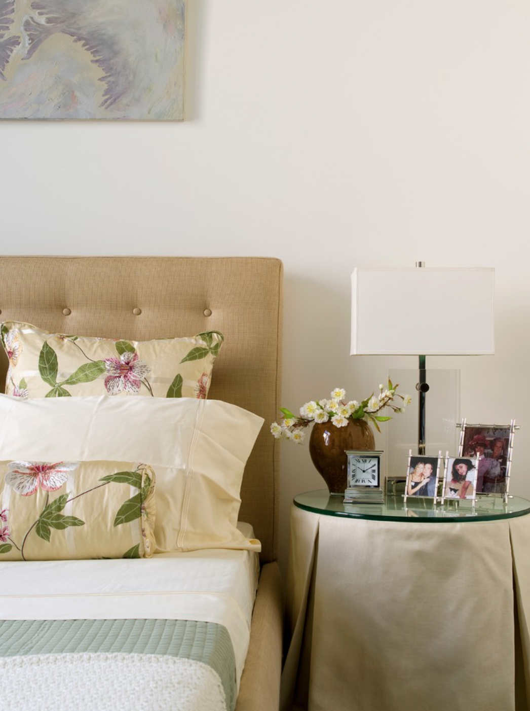 Personal touches in a sunny California Master Bedroom