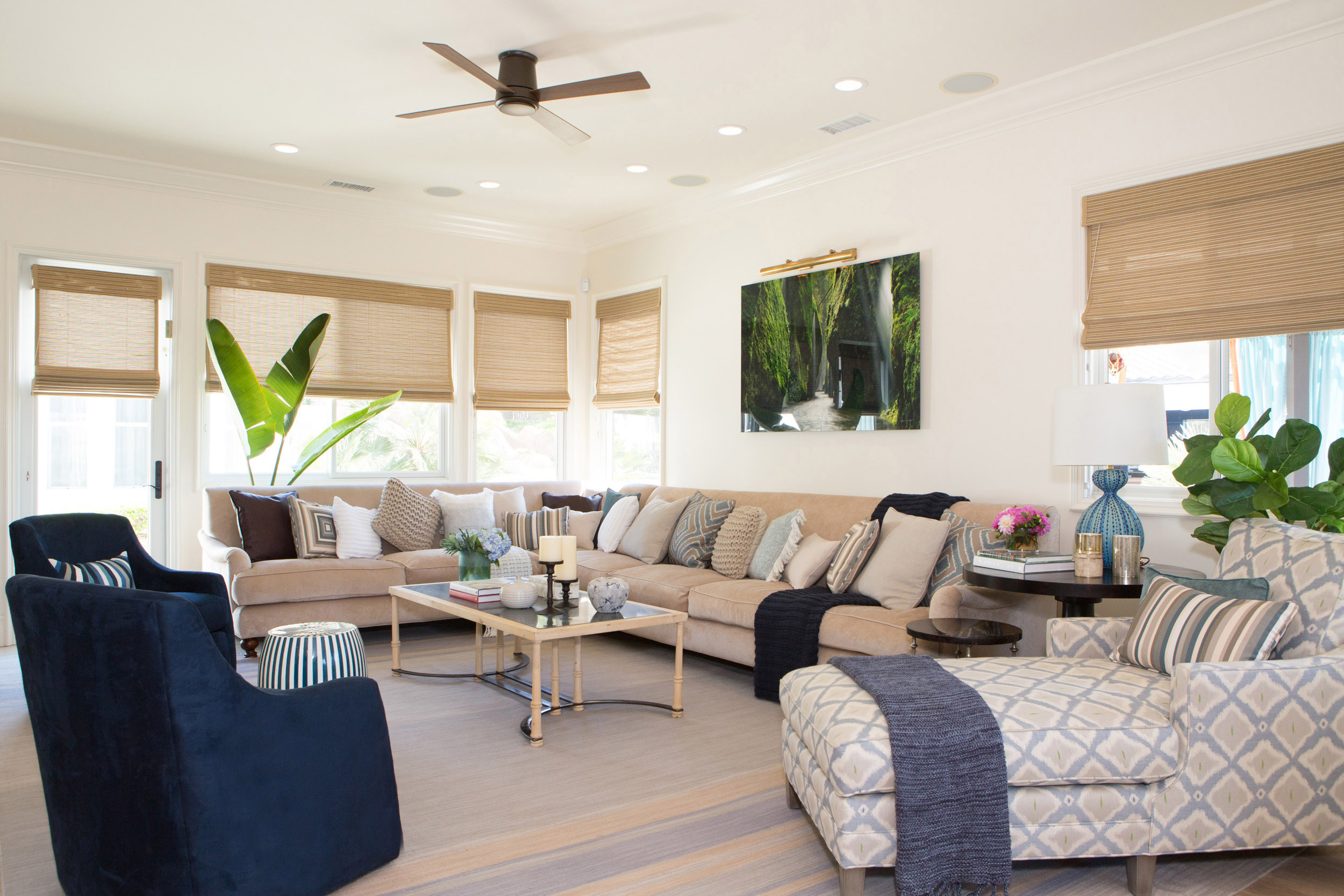 Contemporary Living Room Styled for Spring
