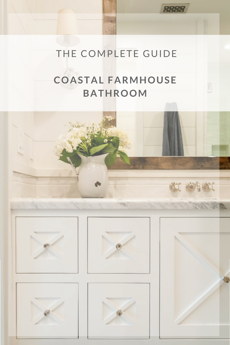 We love a modern farmhouse and recently we were able to partner with the wonderful team at White Sands Coastal and complete a gorgeous modern farmhouse by the beach! One of the best parts of designing a coastal farmhouse are all the little design details that go into the bathrooms. Here's how to get the look yourself: