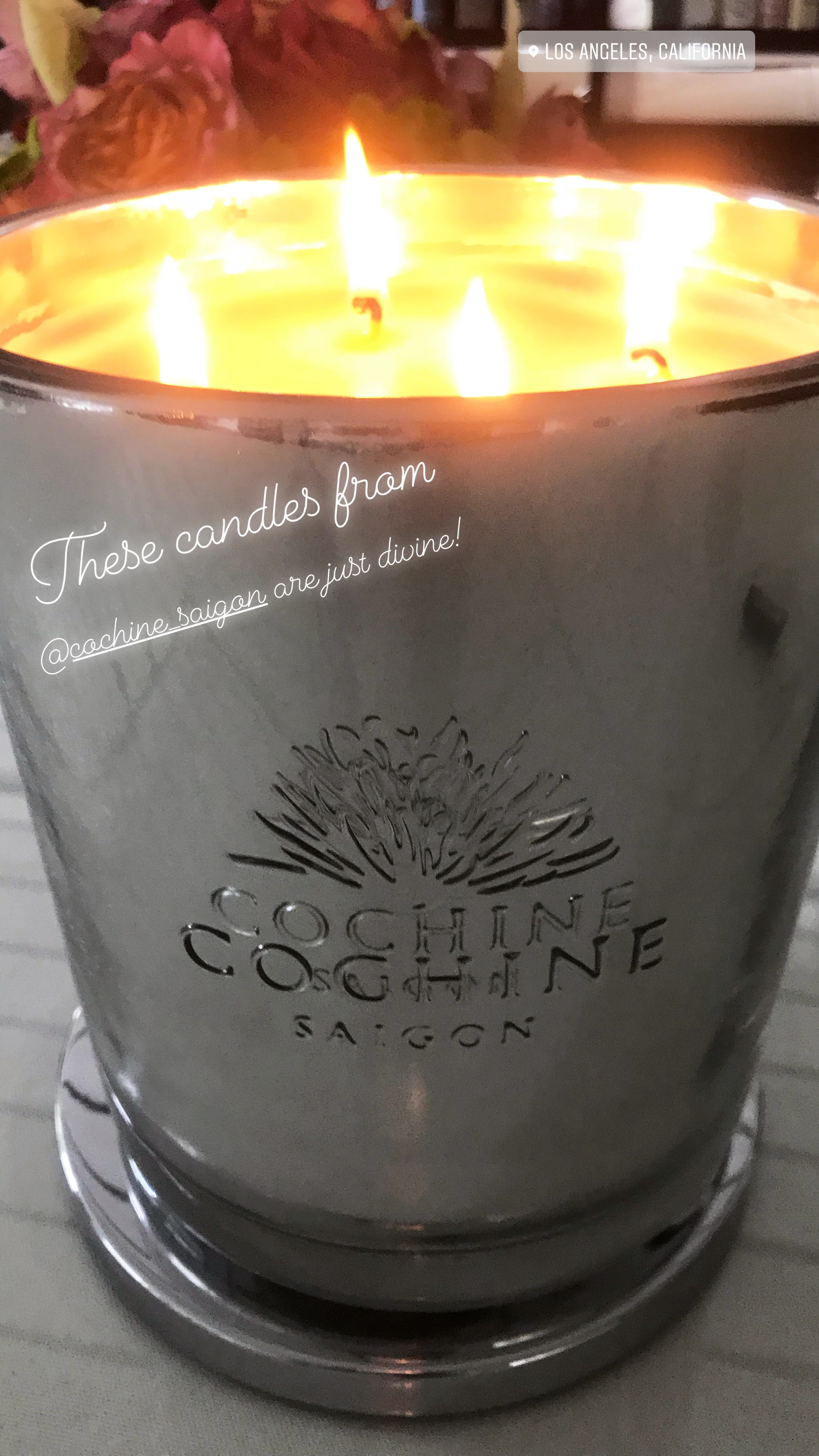 Cochine Saigon Candles at Lori Dennis-hosted Design Blogger's Conference Closing Night Gala