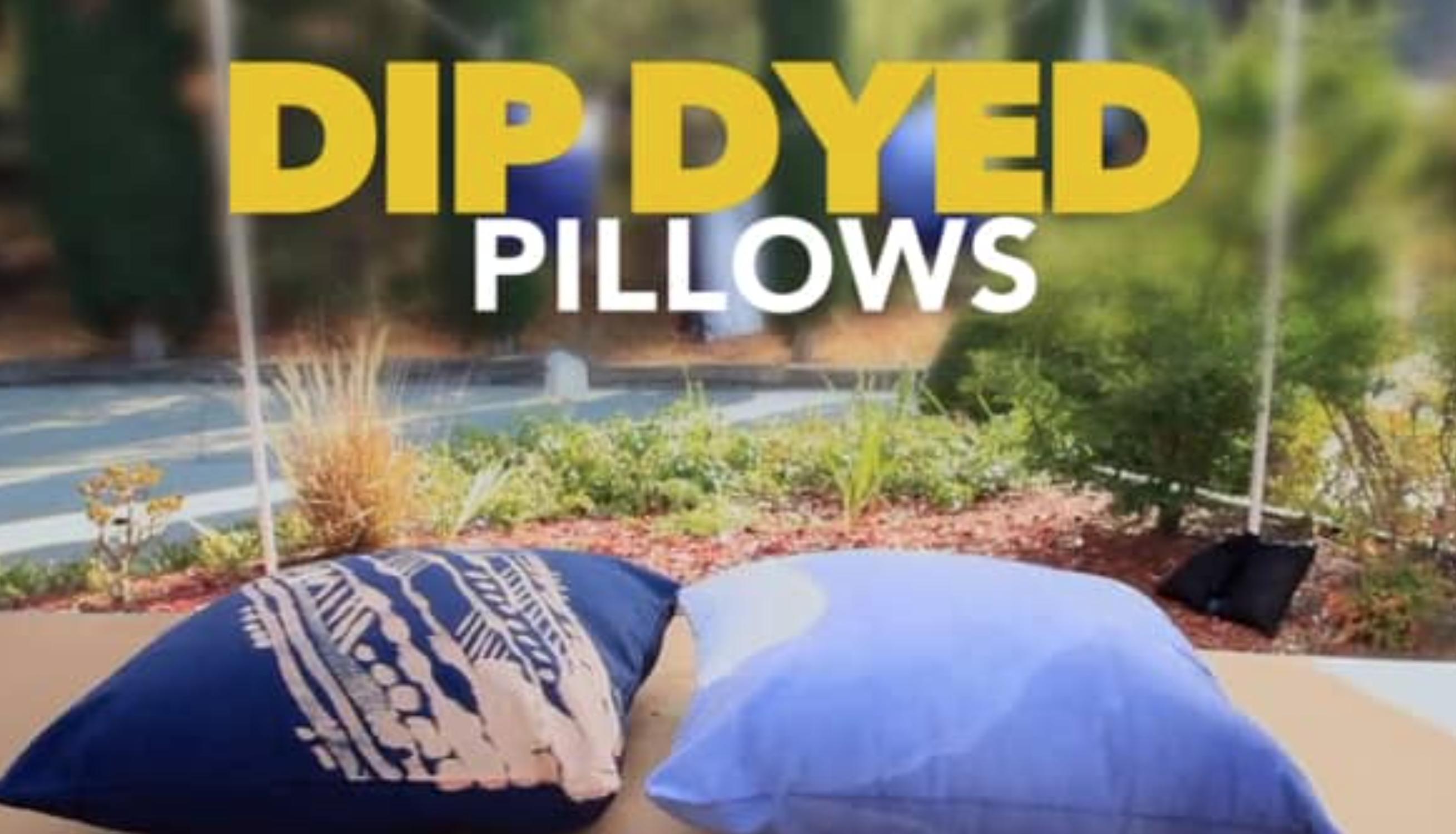 DIY TIME: Custom Dip-Dyed Throw Pillows