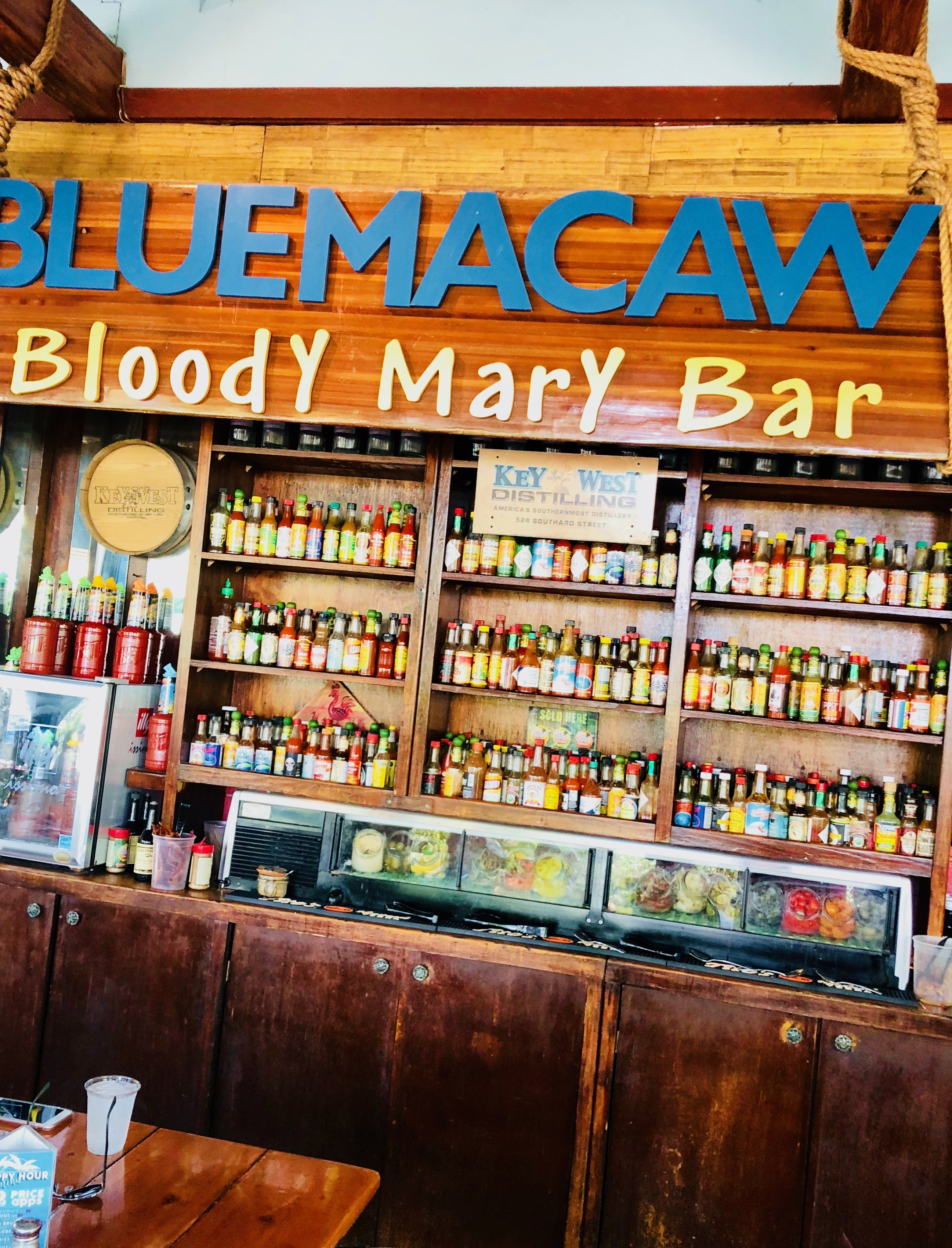 Blue Macaw Bloody Mary Bar