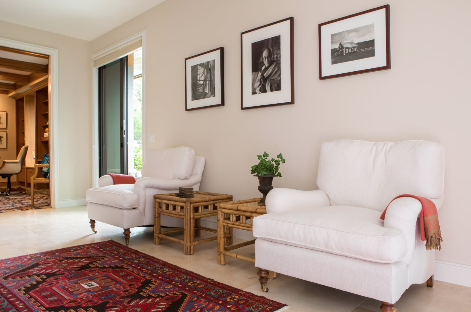 California Cool Chairs with Red Rug