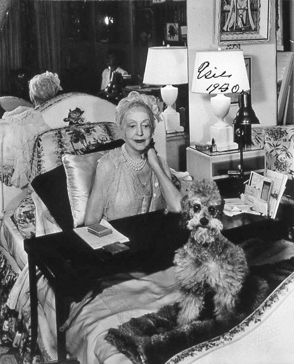 Elsie Dewolf with Toy poodle