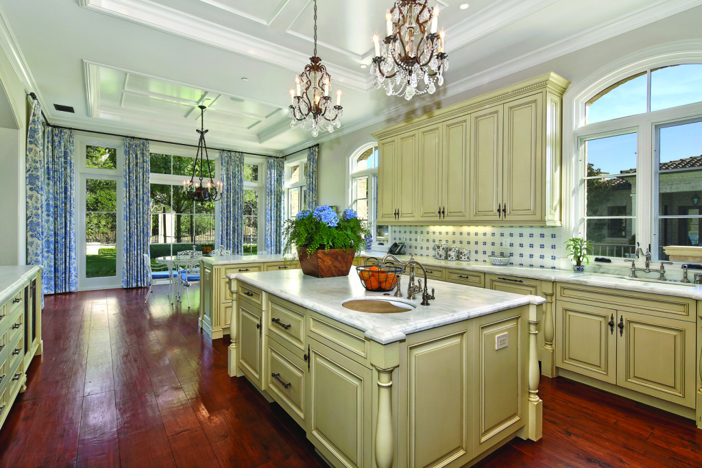 Blue and White traditional kitchen
