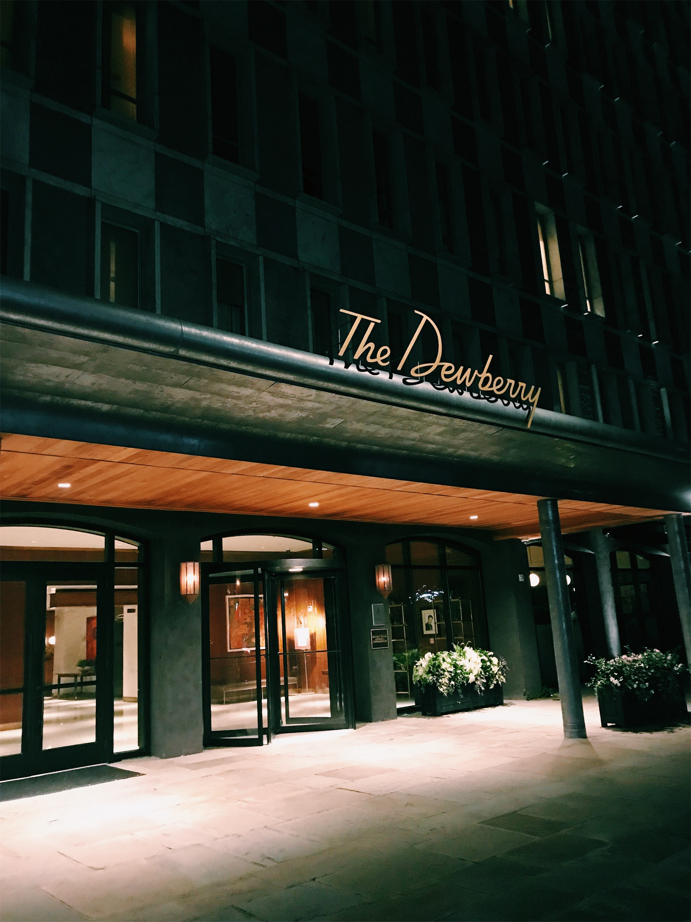 The Dewberry Hotel at night