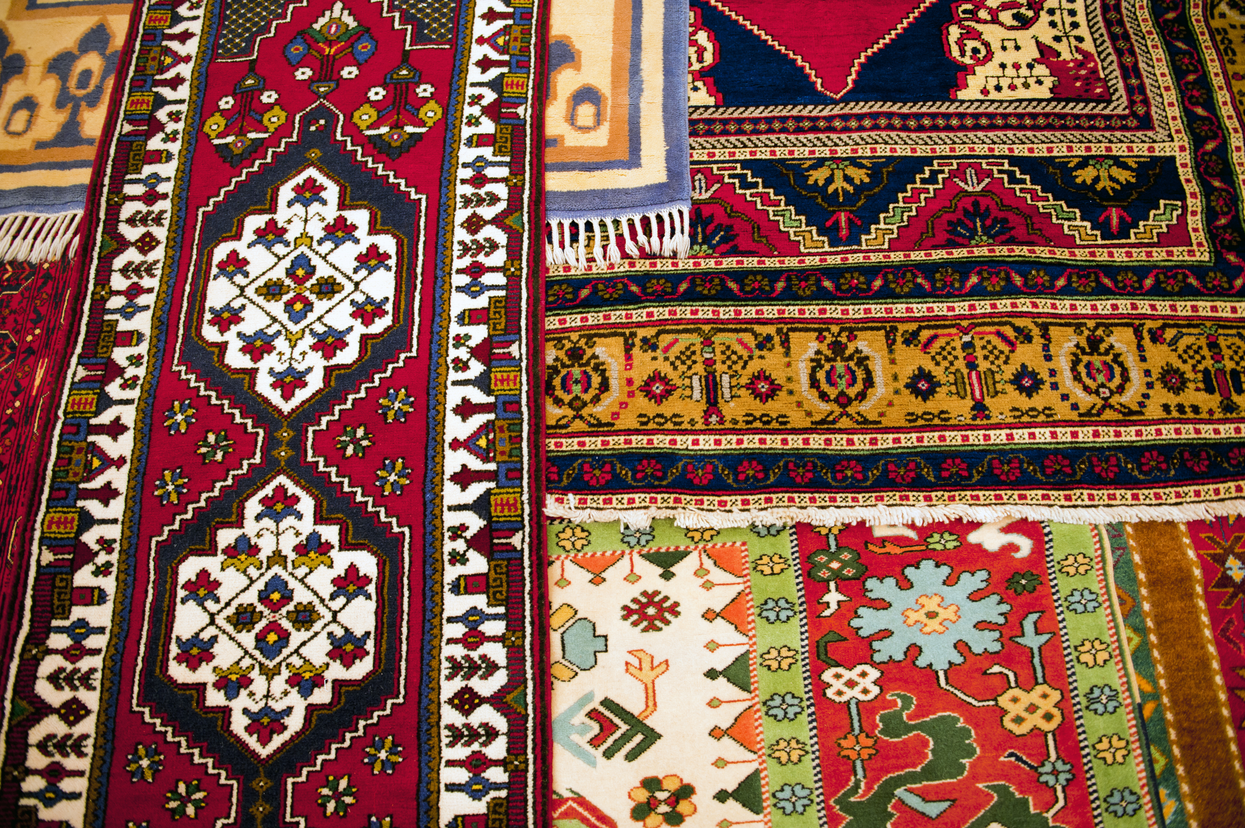 layers of Turkish rugs