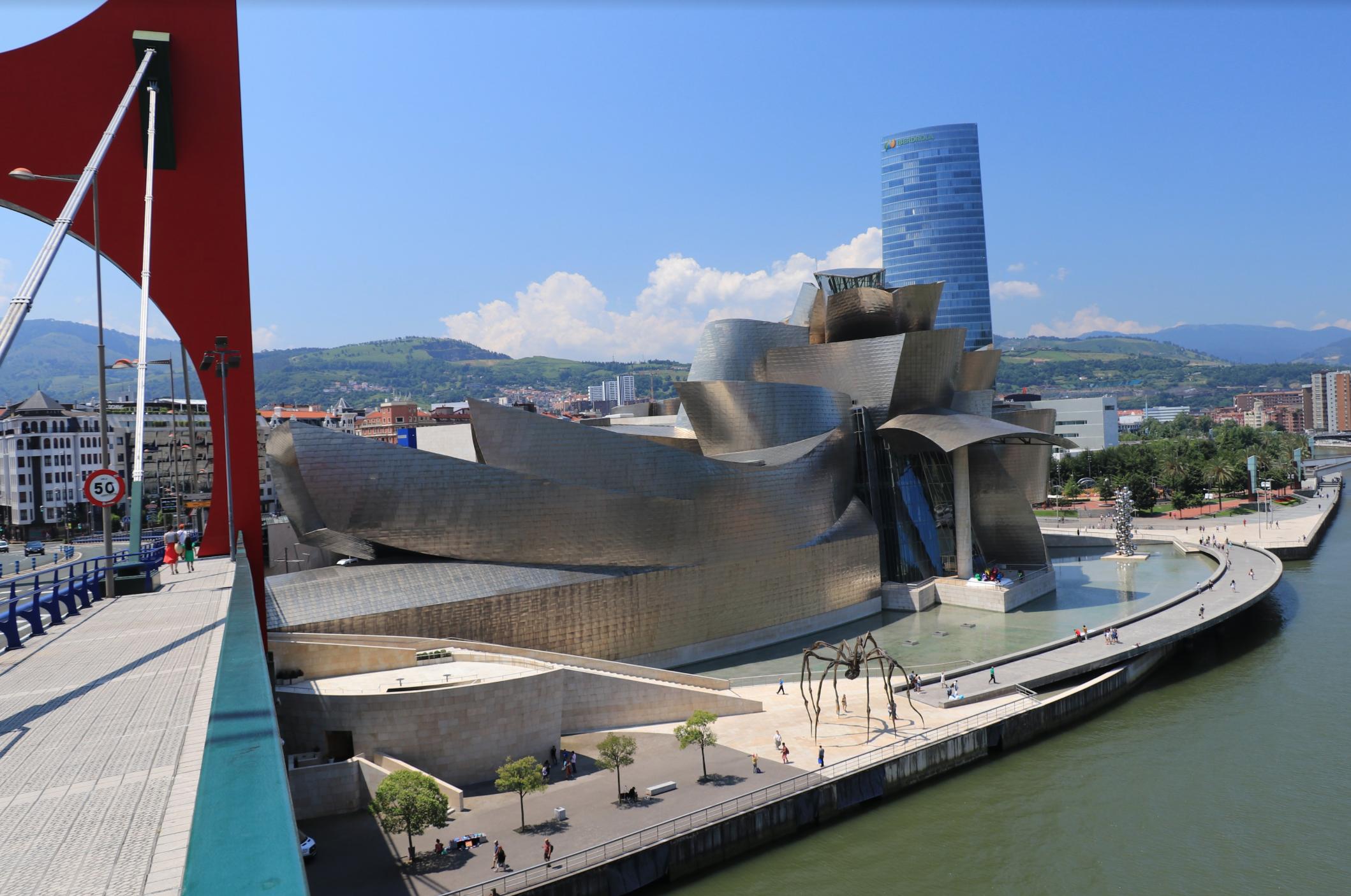 Bilbao Guggenheim view from the bridge