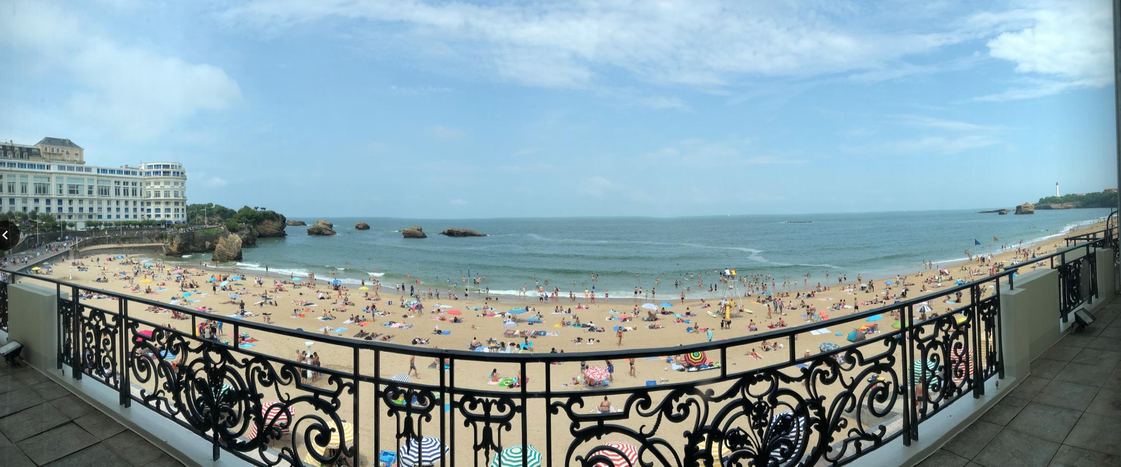 Panorama of Beach in Biarritz France
