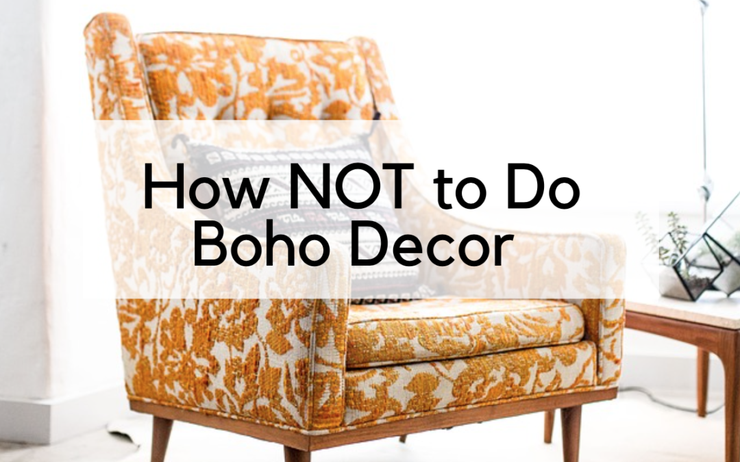 How NOT to Do Boho Chic