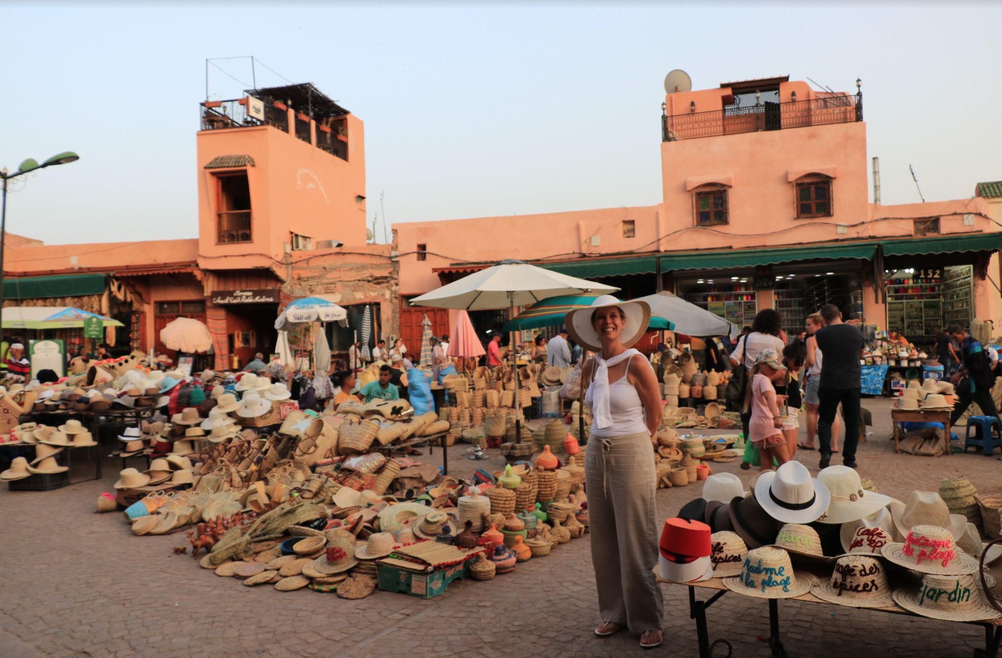 Celebrity Designer Lori Dennis in the Marrakech Medina