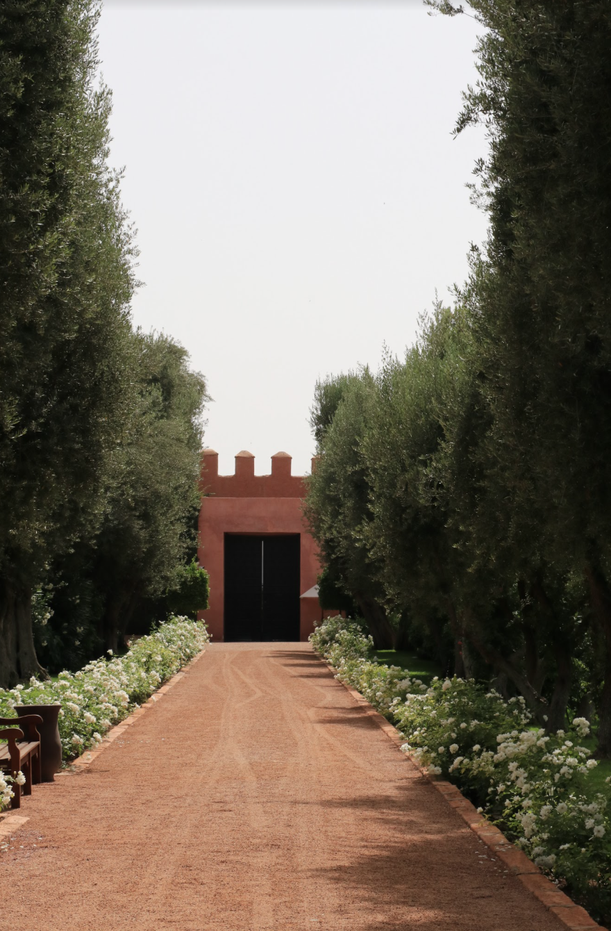 scenic entry to La Mamounia