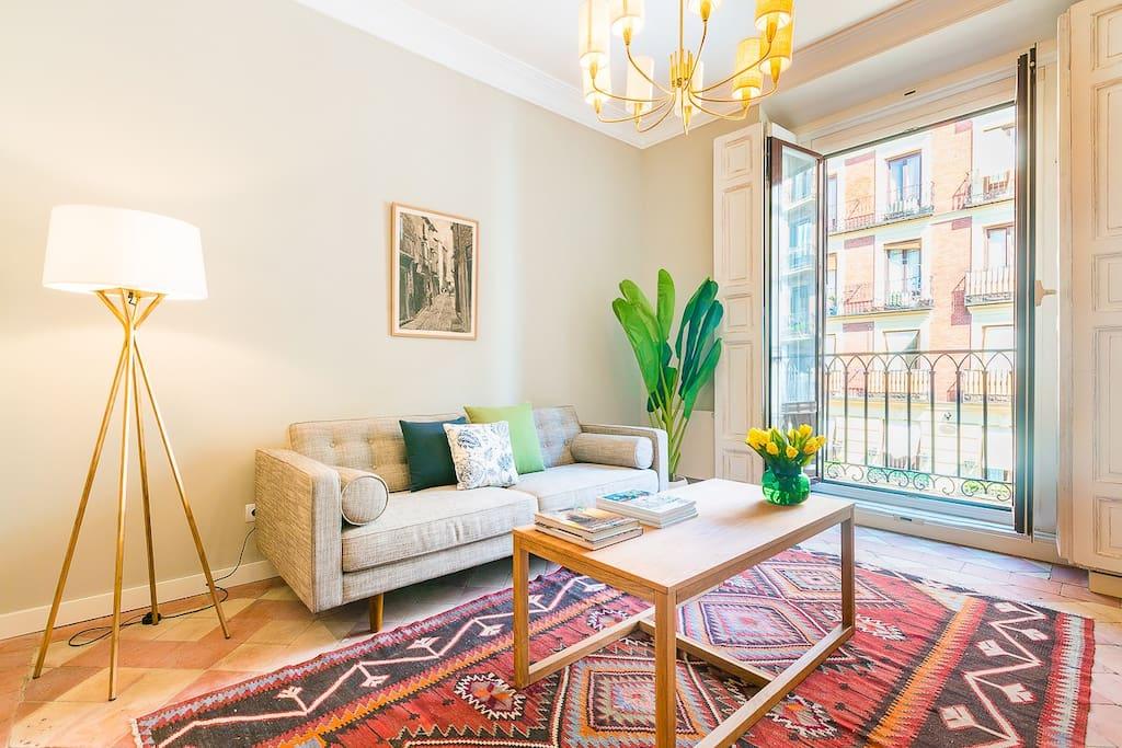 Travel Guide: Spanish Coast - boho chic VRBO apartment in Madrid