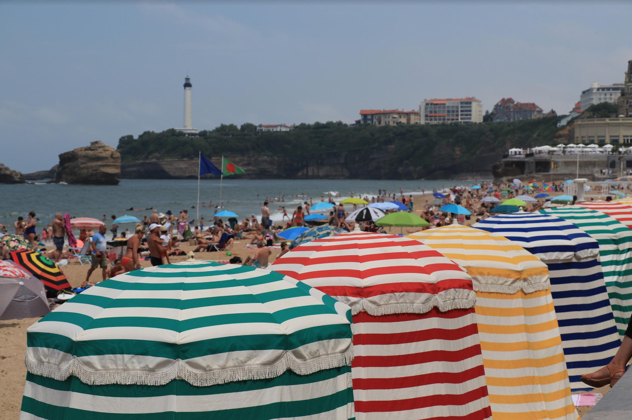 70s beach palette in Biarritz France