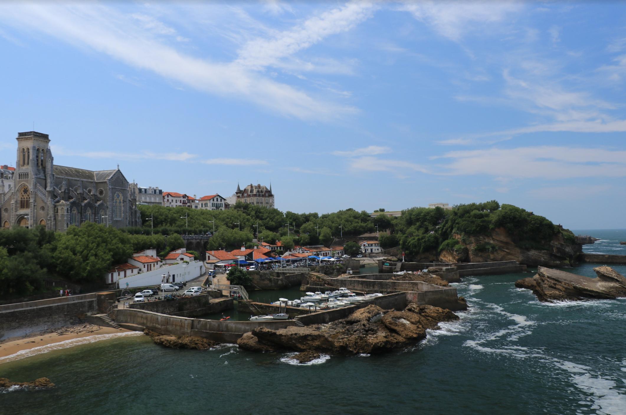 Biarritz France bridges and ocean