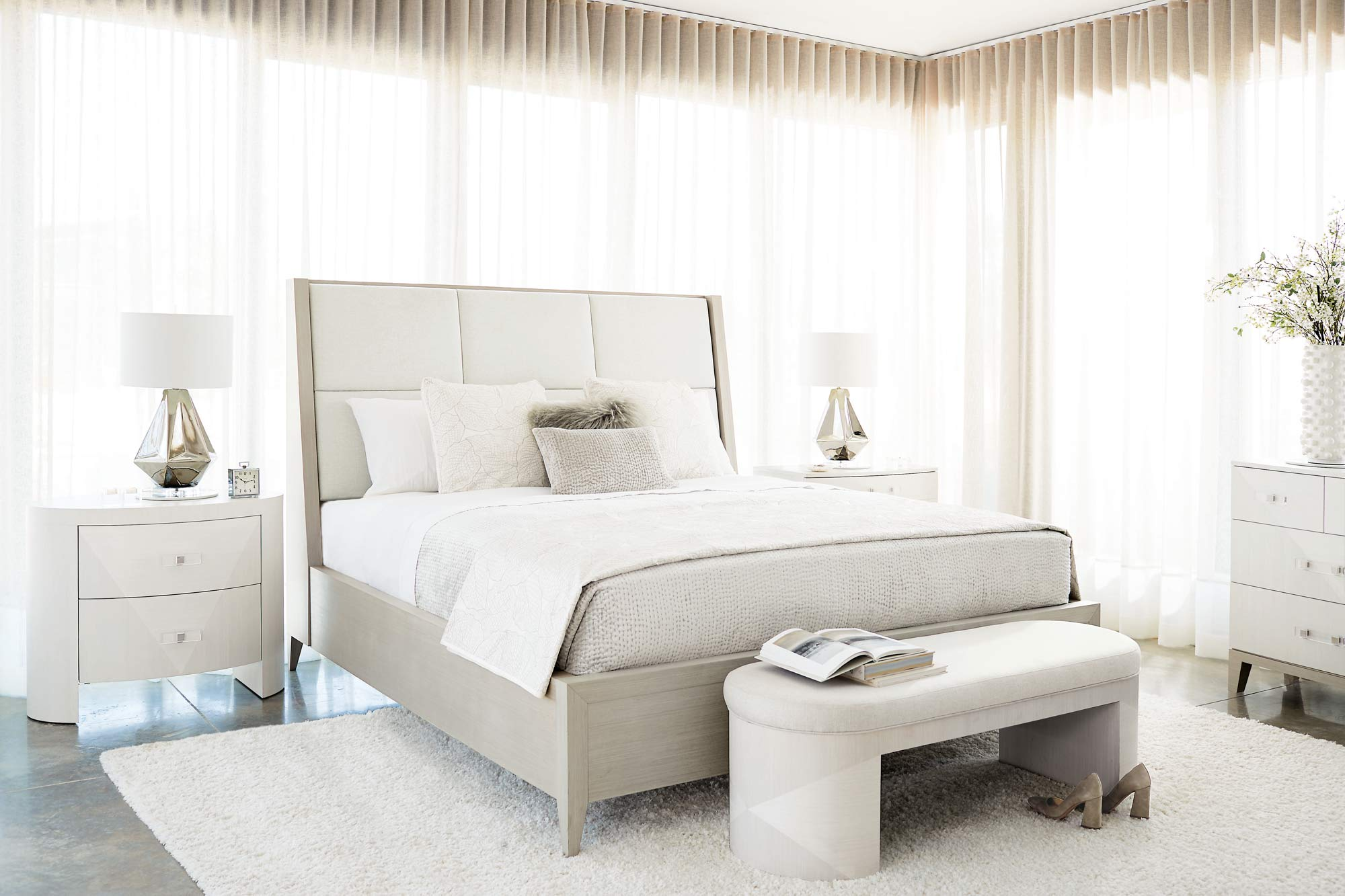 Already going crazy for this Bernhardt Axiom bedroom collection -- Cannot wait to see it in person!