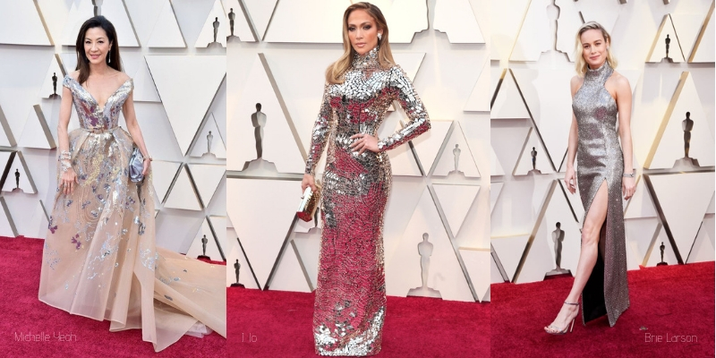 michelle yeoh, jennifer lopez, and brie larson at the oscars Diamonds head to Toe Glamour from the 2019 oscars red carpet