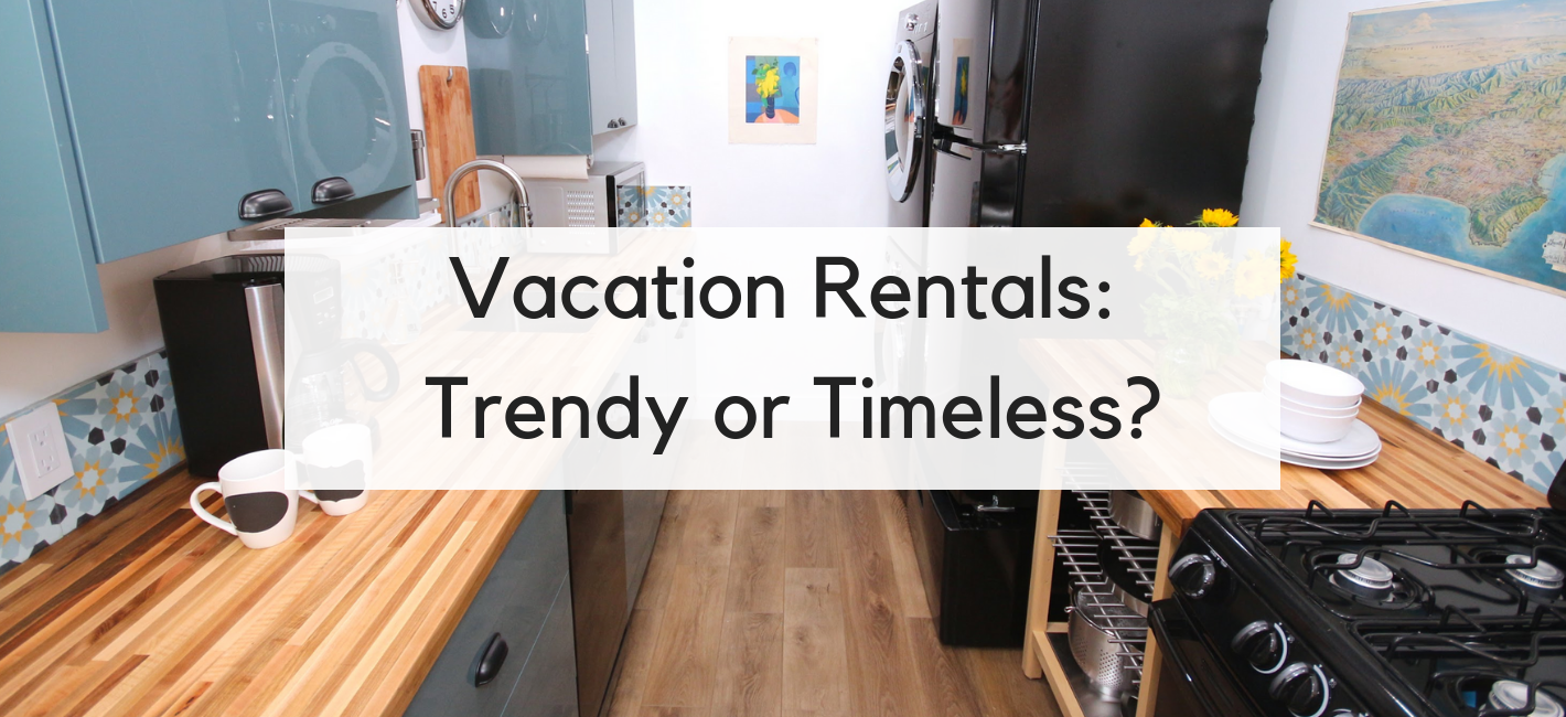 Vacation Rentals_ Trendy or Timeless? | Modern colorful kitchen in a Los Angeles vacation Rental