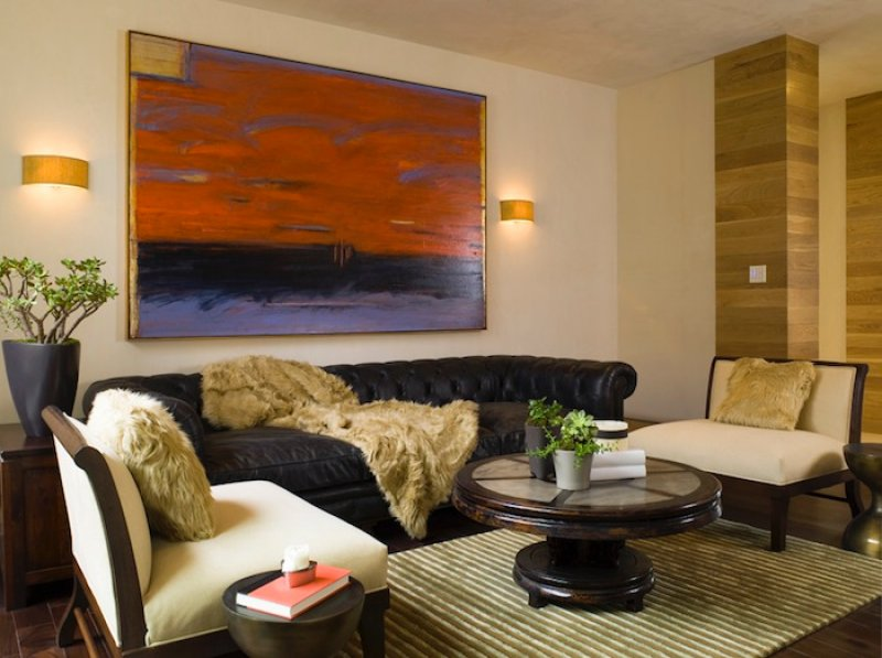abtract art in hollywood hills home