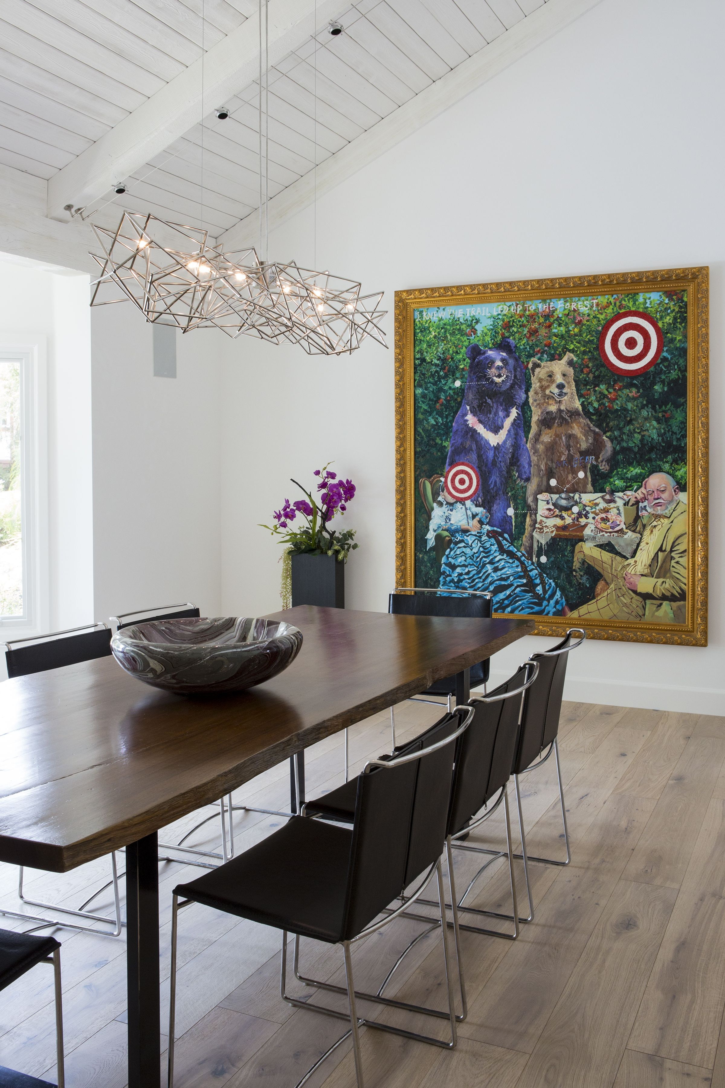 """Blue Chip"" or Art for Investment on display in a bel air dining room"