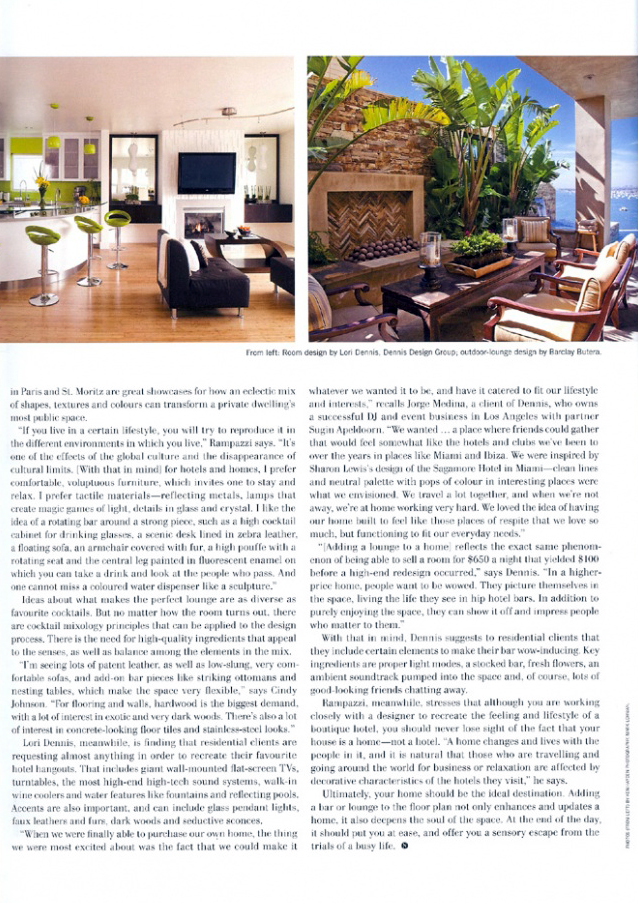 Celebrity Los Angeles Interior Designer Lori Dennis Nuvo Fall 2008