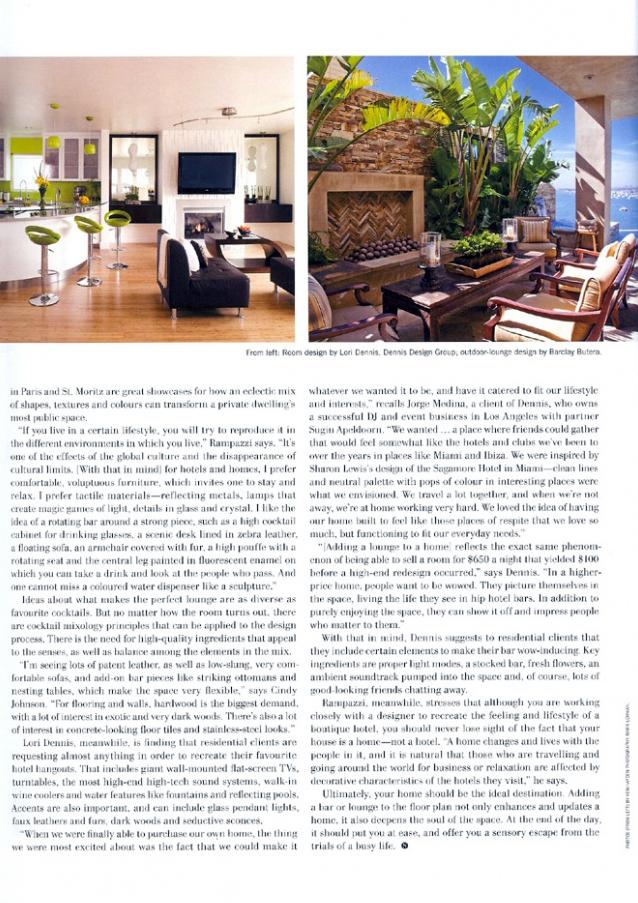 Celebrity Los Angeles Interior Designer Lori Dennis Nuvo Fall 2008