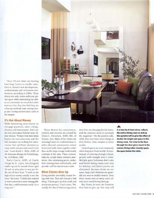 Celebrity Los Angeles Interior Designer Lori Dennis Icon Magazine October, 2008