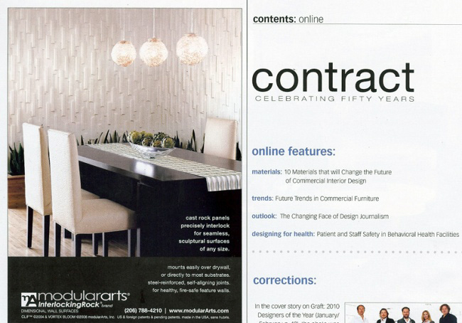 Celebrity Los Angeles Interior Designer Lori Dennis Contract Magazine March, 2010