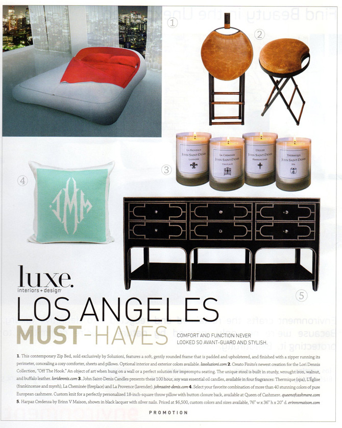 Celebrity Los Angeles Interior Designer Lori Dennis Los Angeles Luxe Magazine November, 2011