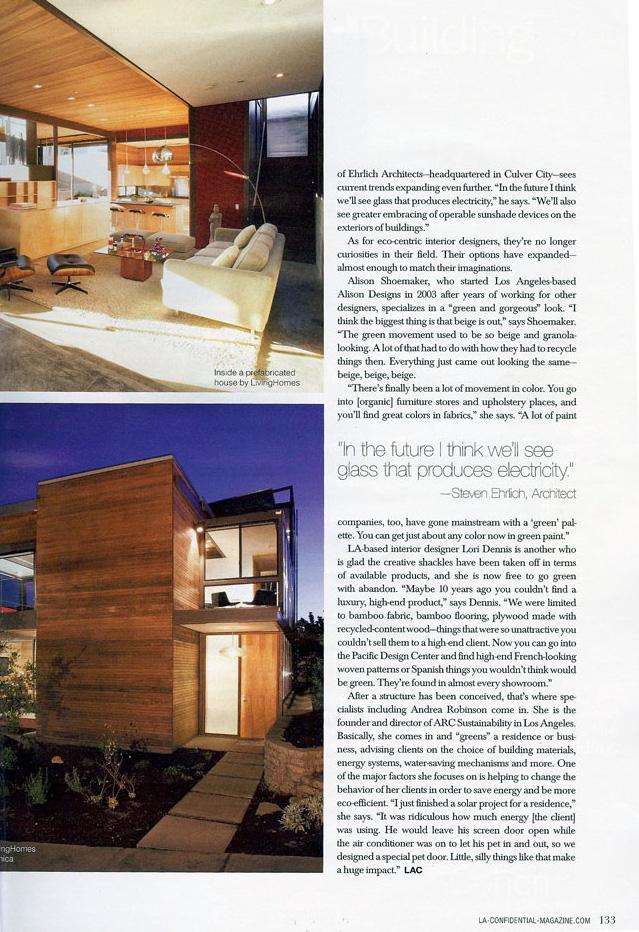 Celebrity Los Angeles Interior Designer Lori Dennis Los Angeles Confidential Winter, 2011