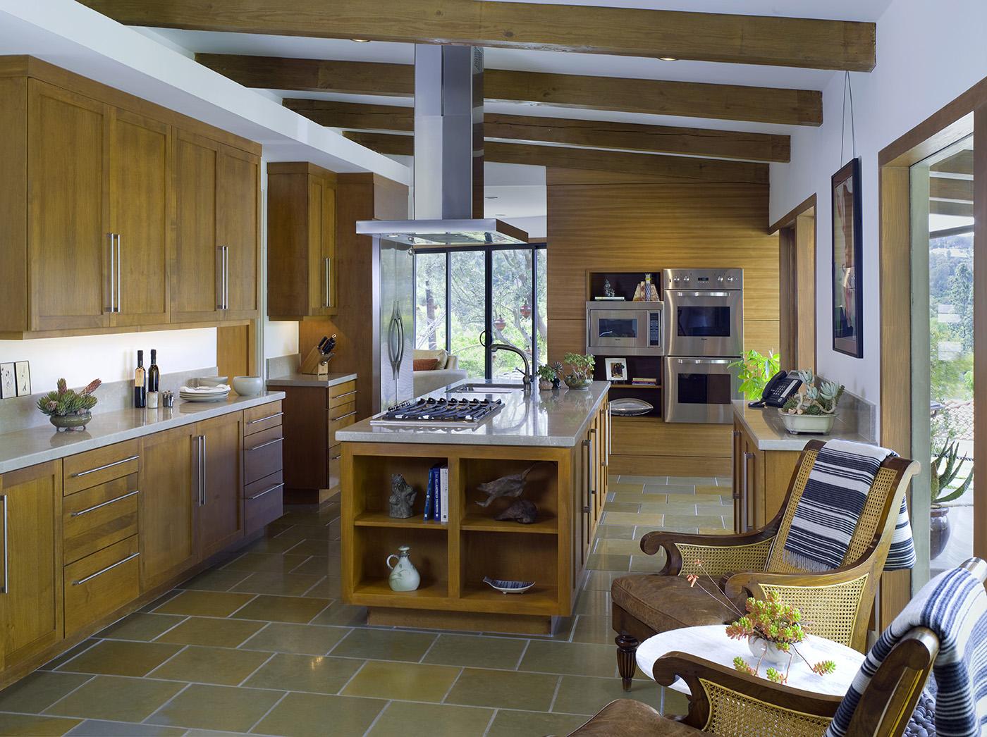 Modern oasis for Zen style kitchen designs