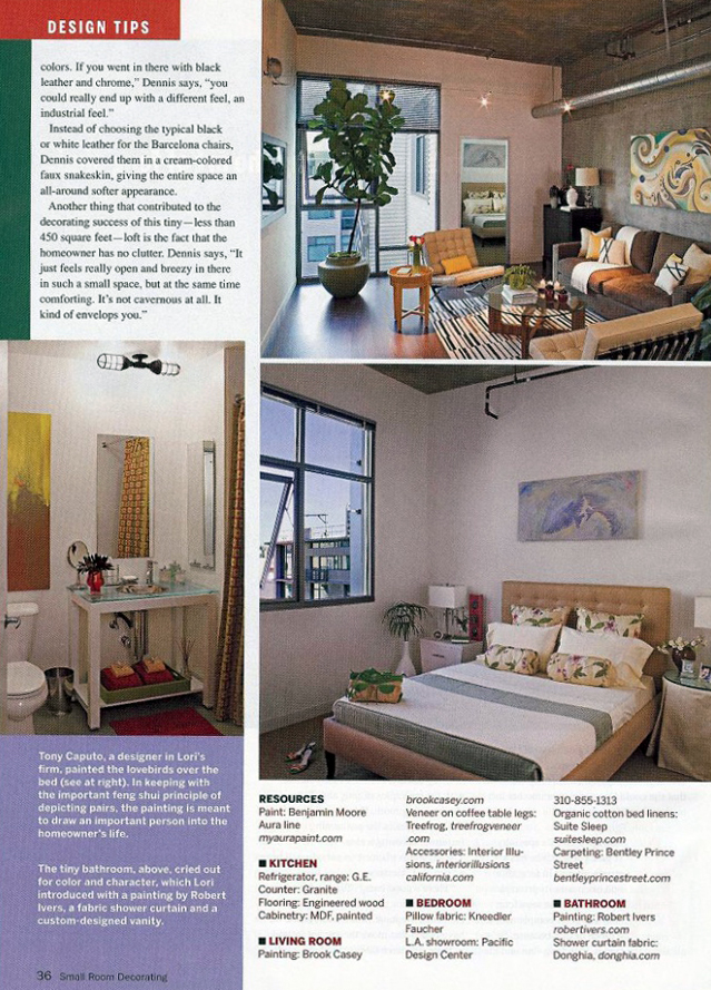 Celebrity Los Angeles Interior Designer Lori Dennis Small Room Decorating August 2008