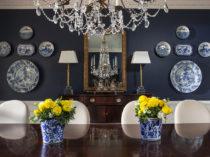 6 - Lori Dennis Interior Design Lake Sherwood Blue Dining Room